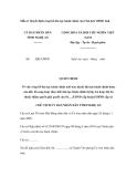 Mẫu Quyết định công bố thủ tục hành chính của Chủ tịch UBND tỉnh