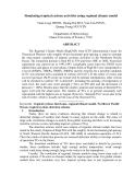 """Báo cáo nghiên cứu khoa học """" Simulating tropical cyclone activities using regional climate model """""""