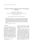 "Báo cáo nghiên cứu khoa học ""  An analysis of drought conditions in Central Vietnam during 1961-2007 """
