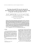 """Báo cáo nghiên cứu khoa học """" Ứng dụng công nghệ GIS trong xây dựng  dự báo ngư trường khai thác cá ngừ đại dương trong nghề câu vàng ở vùng biển Việt Nam giai đoạn 2000 - 2010 """""""