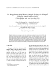 """Báo cáo nghiên cứu khoa học """"  Sử dụng phương pháp Morris đánh giá độ nhạy các thông số trong mô hình WetSpa cải tiến (Thử nghiệm trên lưu vực sông Vệ) """""""