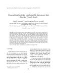 """Báo cáo nghiên cứu khoa học """"  Công nghệ dự báo lũ khi xét đến tính bất định của mô hình thủy văn: Cơ sở lý thuyết """""""