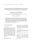 """Báo cáo nghiên cứu khoa học """" Khả năng áp dụng mô hình MODFLOW tính toán và dự báo trữ lượng nước dưới đất miền đồng bằng tỉnh Quảng Trị """""""
