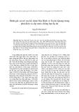 """Báo cáo nghiên cứu khoa học """" Đánh giá vai trò của hồ chứa Hòa Bình và Tuyên Quang trong phát điện và cấp nước chống hạn hạ du """""""