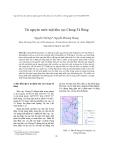 """Báo cáo nghiên cứu khoa học """" Tài nguyên nước mặt khu vực Cheng-Tà Rùng """""""