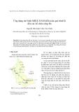 """Báo cáo nghiên cứu khoa học """"  Ứng dụng mô hình MIKE-NAM diễn toán quá trình lũ đến các hồ chứa sông Ba """""""