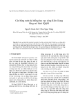 """Báo cáo nghiên cứu khoa học """" Cân bằng nước hệ thống lưu vực sông Kiến Giang bằng mô hình IQQM """""""