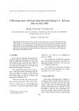 """Báo cáo nghiên cứu khoa học """" Chất lượng nước sinh hoạt nông thôn tỉnh Quảng Trị - Kết quả điều tra năm 2008 """""""