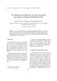 """Báo cáo nghiên cứu khoa học """"  Cân bằng nước hệ thống lưu vực sông Thạch Hãn tỉnh Quảng Trị bằng mô hình MIKE BASIN"""""""