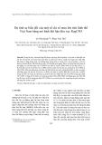 """Báo cáo nghiên cứu khoa học """" Dự tính sự biến đổi của một số chỉ số mưa lớn trên lãnh thổ Việt Nam bằng mô hình khí hậu khu vực RegCM3 """""""
