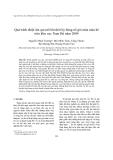 """Báo cáo nghiên cứu khoa học """"  Quá trình nhiệt ẩm qui mô lớn thời kỳ bùng nổ gió mùa mùa hè trên khu vực Nam Bộ năm 2004 """""""