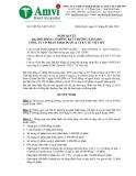 NGHỊ QUYẾT ĐẠI HỘI ĐỒNG CỔ ĐÔNG BẤT THƯỜNG NĂM 2010 CÔNG TY CỔ PHẦN SXKD DƯỢC & TTB Y TẾ VIỆT MỸ