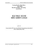 Bài thí nghiệm - Bộ môn Tự Động Đo Lường – Bài thực hành điều khiển Logic