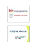 Tổng quan môn học nghiệp vụ bán hàng - Th.S. Nguyễn Ngọc Long