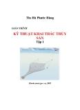 Giáo trình kỹ thuật khai thác thủy sản tập 1 part 1