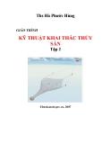 Giáo trình kỹ thuật khai thác thủy sản tập 2 part 1