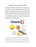 Không nên bổ sung nhiều vitamin D