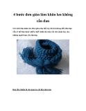 4 bước đơn giản làm khăn len không cần đan