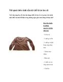 Túi quai chéo xinh xắn tái chế từ những áo len cũ