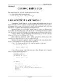 Lập trình C căn bản - Chương 5 - CHƯƠNG TRÌNH CON