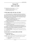 Lập trình C căn bản - Chương 7 - KIỂU CON TRỎ