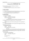 Lập trình C căn bản - Chương 8 - CHUỖI KÝ TỰ
