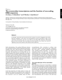 The mammalian transcriptome and the function of non-coding DNA sequences