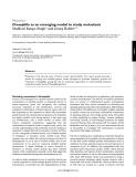 osophila as an emerging model to study metastasis