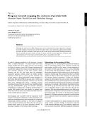 Opinion  Progress towards mapping the universe of protein folds Alastair Grant, David Lee and