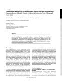 Metabolite profiling in plant biology: platforms and destinations