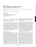 "Báo cáo y học: ""Cancer, oncogenes and signal transduction"""