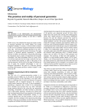 """Báo cáo y học: """"The promise and reality of personal genomics"""""""