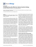 "Báo cáo y học: ""Predicting drug side-effects by chemical systems biology"""