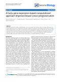 """Báo cáo y học: """"A fuzzy gene expression-based computational approach improves breast cancer prognostication"""""""