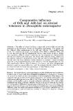 "Báo cáo khoa hoc:"" Comparative  influence of Odh and Adh loci on alcohol tolerance in Drosophila melanogaster"""