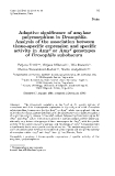 """Báo cáo khoa hoc:"""" Adaptive significance of amylase polymorphism in Drosophila. Analysis of the association between tissue-specific expression and specific activity in Amy or Amy genotypes F S of Drosophila subobscura"""""""