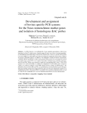 """Báo cáo khoa hoc:""""  Development and assignment of bovine-specific PCR systems for the Texas nomenclature marker genes and isolation of homologous BAC probes"""""""