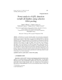 """Báo cáo khoa hoc:""""  Power analysis of QTL detection in half-sib families using selective DNA pooling"""""""