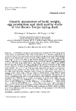 """Báo cáo sinh học: """" Genetic parameters of body weight, egg production and shell quality traits in the Brown Tsaiya laying duck"""""""