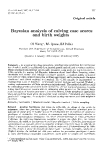 "Báo cáo sinh học: ""Bayesian analysis of calving ease and birth weights"""