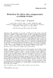 """Báo cáo sinh học: """" Selection for litter size components: a critical review"""""""