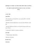 Bài 28.QUY TẮC HỢP LỰC SONG SONG. ĐIỀU KIỆN CÂN BẰNG CỦA MỘT VẬT RẮN DƯỚI TÁC DỤNG CỦA BA LỰC SONG SONG