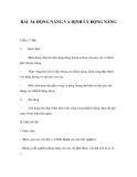 BÀI 34. ĐỘNG NĂNG VÀ ĐỊNH LÝ ĐỘNG NĂNG