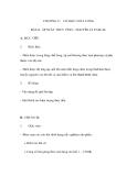 CHƯƠNG V: CƠ HỌC CHẤT LỎNG - ÁP SUẤT THỦY TĨNH – NGUYÊN LÍ PASCAL