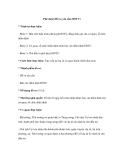 Phê duyệt Hồ sơ yêu cầu (HSYC)