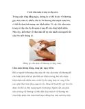 Cách cầm máu trong sơ cấp cứu