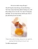 Nên ăn bao nhiêu trứng mỗi ngày?