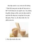 Sữa đậu nành và các món ăn bổ dưỡng