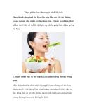 Thực phẩm làm chậm quá trình lão hóa