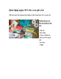 Quà tặng ngày 8/3 cho con gái yêu